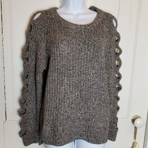 Sweaters - Sweater with Cut-out Sleeves